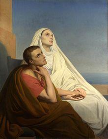 Augustinus en zijn moeder Monica